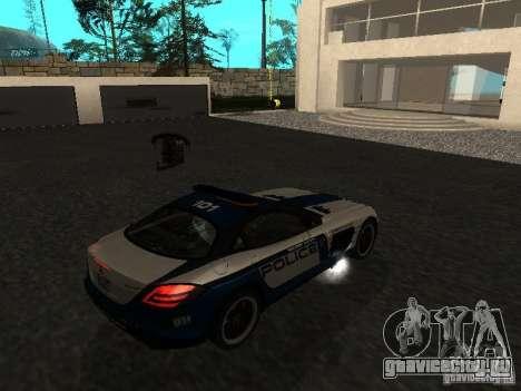 Mercedes-Benz SLR 722 SCPD для GTA San Andreas вид слева