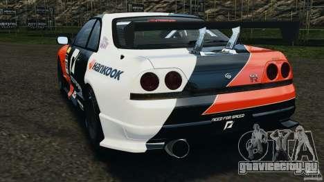 Nissan Skyline GT-R (R33) v1.0 для GTA 4 вид сзади слева