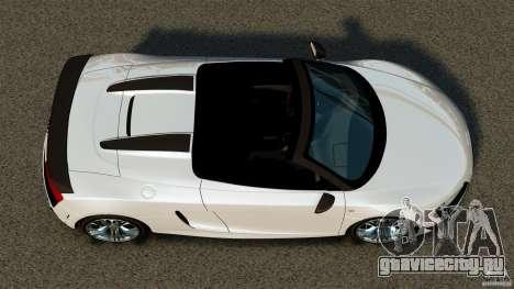 Audi R8 GT Spyder 2012 для GTA 4 вид справа