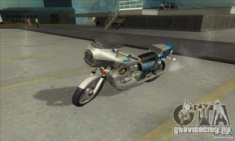 Kawasaki KZ1000 MFP для GTA San Andreas вид сзади слева