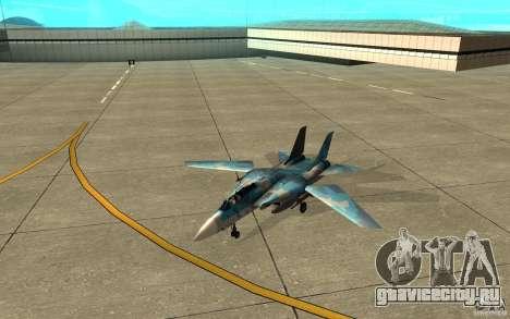 F-14 Tomcat Blue Camo Skin для GTA San Andreas вид слева