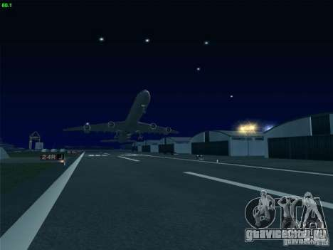 Airbus A340-600 Singapore Airlines для GTA San Andreas вид изнутри