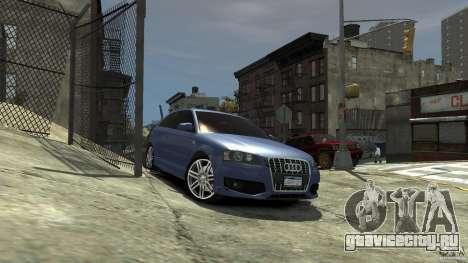 Audi S3 2006 v1.1 тонированая для GTA 4 вид справа