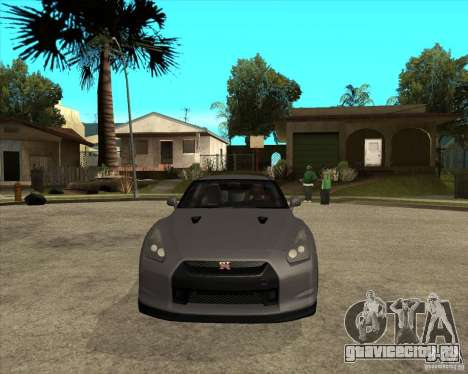 2008 Nissan GTR R35 для GTA San Andreas вид сзади