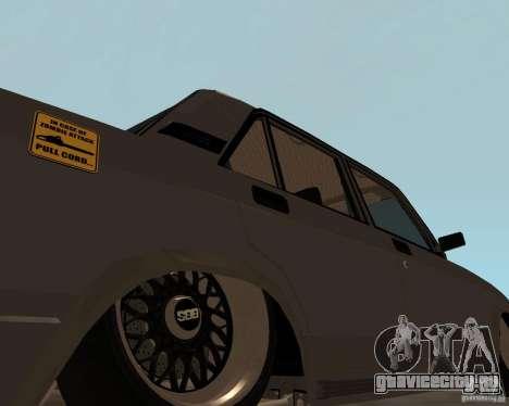 ВАЗ 2107 JDM для GTA San Andreas вид сзади слева