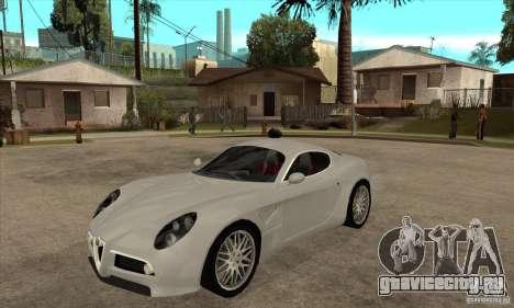 Alfa Romeo 8С Competizione stock для GTA San Andreas вид слева