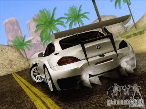 BMW Z4 E89 GT3 2010 Final для GTA San Andreas вид сзади