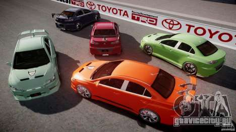 Mitsubishi Lancer Evolution X Tuning для GTA 4 двигатель