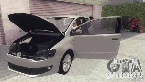 Volkswagen Fox 2013 для GTA San Andreas вид сзади слева