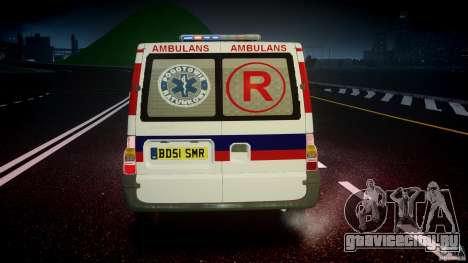 Ford Transit Polish Ambulance [ELS] для GTA 4 салон