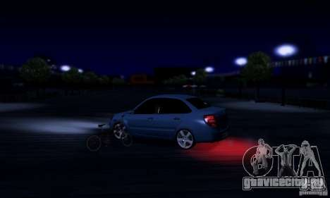 Lada Granta Light Tuning для GTA San Andreas вид изнутри