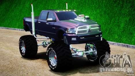Dodge Ram 3500 2010 Monster Bigfut для GTA 4 вид сзади