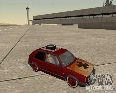 VW Golf II Shadow Crew для GTA San Andreas вид сзади