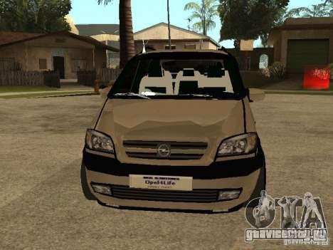 Opel Zafira для GTA San Andreas вид сбоку