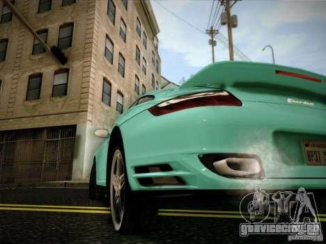 Porsche 911 (997) turbo для GTA San Andreas вид сзади слева