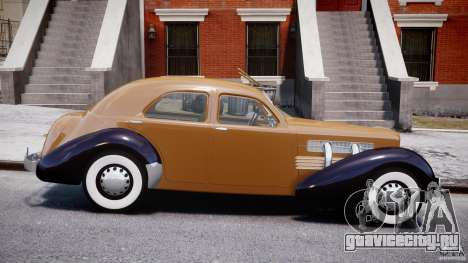 Cord 812 Charged Beverly Sedan 1937 для GTA 4 вид изнутри