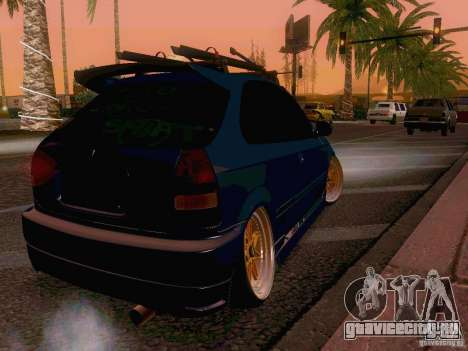 Honda Civic JDM Hatch для GTA San Andreas вид сзади слева