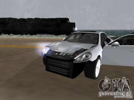 Porsche Panamera Turbo Tunable для GTA San Andreas вид изнутри