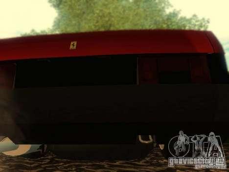 Ваз 21099 Ferrari для GTA San Andreas вид изнутри