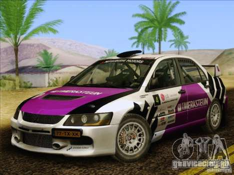 Mitsubishi Lancer Evolution IX Rally для GTA San Andreas вид сверху