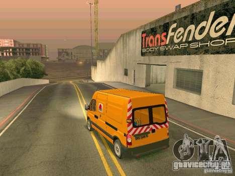 Renault Master для GTA San Andreas вид сбоку