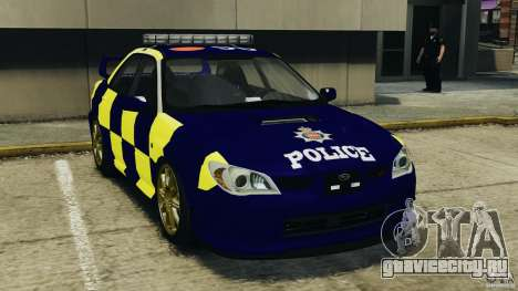 Subaru Impreza British ANPR [ELS] для GTA 4