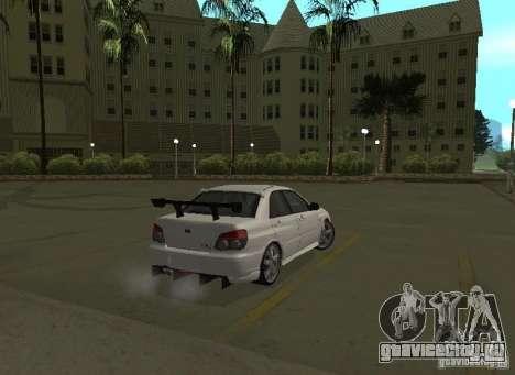 Subaru Impreza WRX STI-Street Racing для GTA San Andreas колёса