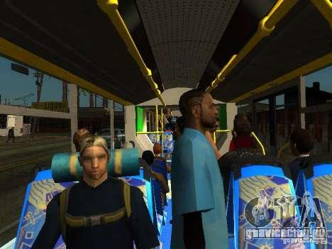 Троллейбус ЛАЗ E301 для GTA San Andreas вид сверху
