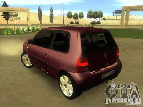 Volkswagen Lupo для GTA San Andreas вид сзади слева
