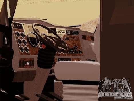 Kenworth T2000 для GTA San Andreas вид изнутри