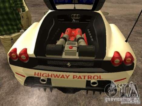 Ferrari Scuderia Indonesian Police для GTA San Andreas вид изнутри