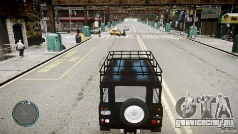 Land Rover Defender для GTA 4 вид справа