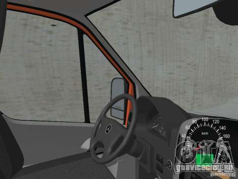 Mercedes-Benz Sprinter 518 MAXI 2007 для GTA San Andreas вид изнутри