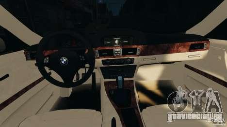 BMW 330i E92 для GTA 4 вид сзади