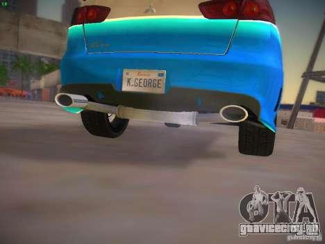 Mitsubishi Lancer Evo X Tunable для GTA San Andreas вид снизу