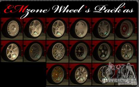 Wheels Pack by EMZone для GTA San Andreas