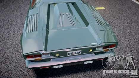 Lamborghini Countach v1.1 для GTA 4 вид изнутри