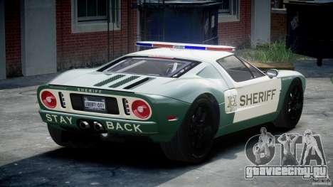 Ford GT1000 Hennessey Police 2006 [EPM][ELS] для GTA 4 вид сзади слева