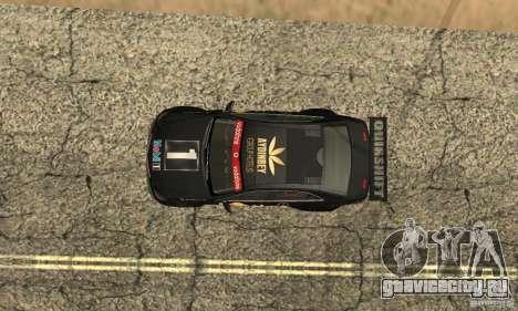 Mercedes-Benz E63 AMG DTM 2011 для GTA San Andreas вид снизу