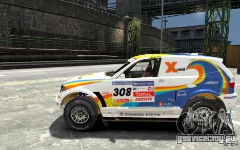 BMW X3 CC DAKAR для GTA 4 вид слева