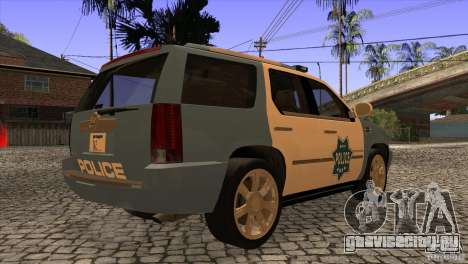 Cadillac Escalade 2007 Cop Car для GTA San Andreas вид справа