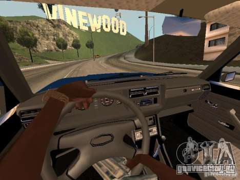 ВАЗ 2107 Baku для GTA San Andreas вид сзади