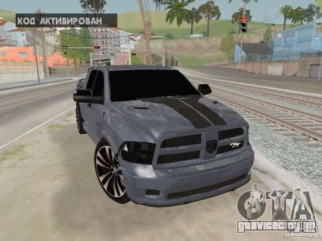 Dodge Ram R/T 2011 для GTA San Andreas вид сзади