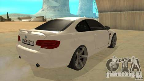 BMW 335i Coupe 2011 для GTA San Andreas вид справа
