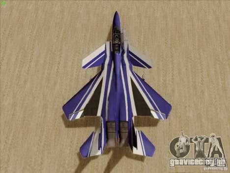 F-15 SMTD для GTA San Andreas вид сзади