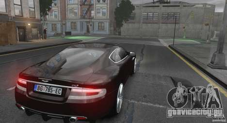 Aston Martin DBS v1.0 для GTA 4 вид справа