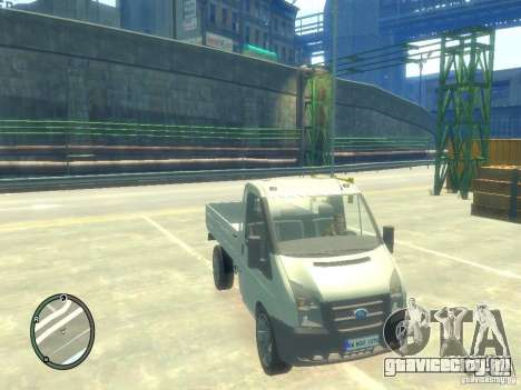Ford Transit 2007 Pickup для GTA 4 вид справа
