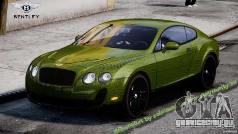 Bentley Continental SS 2010 Suitcase Croco [EPM] для GTA 4