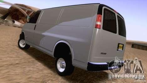 Chevrolet Savana 3500 Cargo Van для GTA San Andreas вид сзади слева