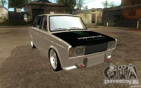 ВАЗ-2107 Lada Drift для GTA San Andreas вид сзади